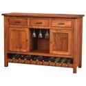 Meadow Lane Wood Adele Wine Cabinet - Item Number: 356