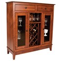 Meadow Lane Wood Canterbury Wine Cabinet - Item Number: 507 QSWO
