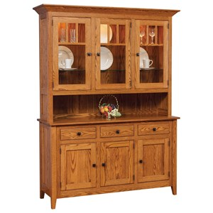 Meadow Lane Wood Canterbury Buffet and Hutch