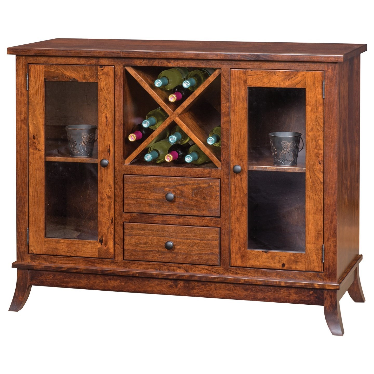 Covington Wine Cabinet by Meadow Lane Wood at Saugerties Furniture Mart