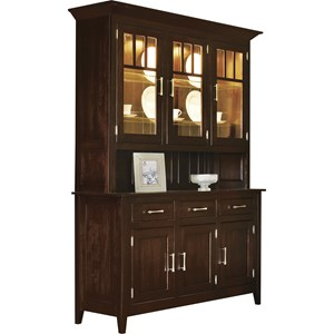 Meadow Lane Wood Larkspur Buffet with Hutch