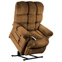 Windermere Motion Lift Chairs Infinite Position Chaise Lounger - Item Number: NM-1650 Angus Nutmeg