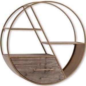 Mercana Ruby-Gordon Accents Metal Circle Wall Shelf