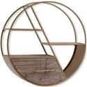 Mercana Ruby-Gordon Accents Metal Circle Wall Shelf - Item Number: MER-295