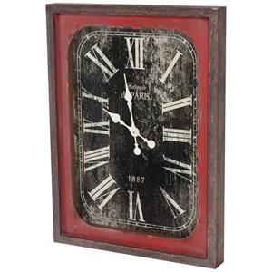 Mercana Ruby-Gordon Accents Rectangular Wall Clock