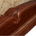 Michael Amini Cortina California King Traditional Cherry Sleigh Bed