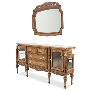 Michael Amini Excursions Sideboard and Mirror Set