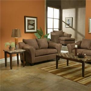 Chateau  Loveseat with Flared Track Arms by Michael Nicholas