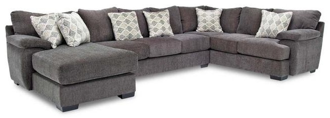 Davenport Victory Sterling 3-Piece Sectional w/ Left Chaise by Michael Nicholas at Beck's Furniture