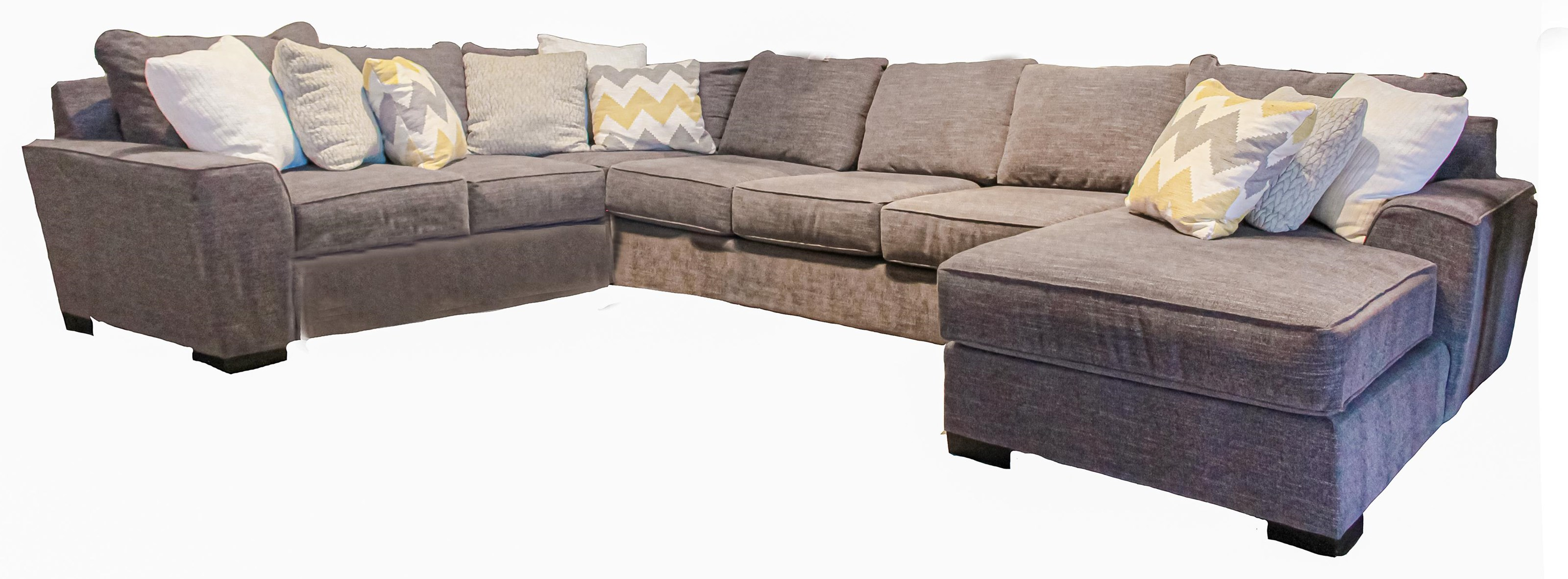 Desperado Curious Charcoal 3-Piece Sectional w/ Right Chaise by Michael Nicholas at Beck's Furniture