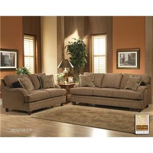 Jennifer Stationary Living Room Group by Michael Nicholas