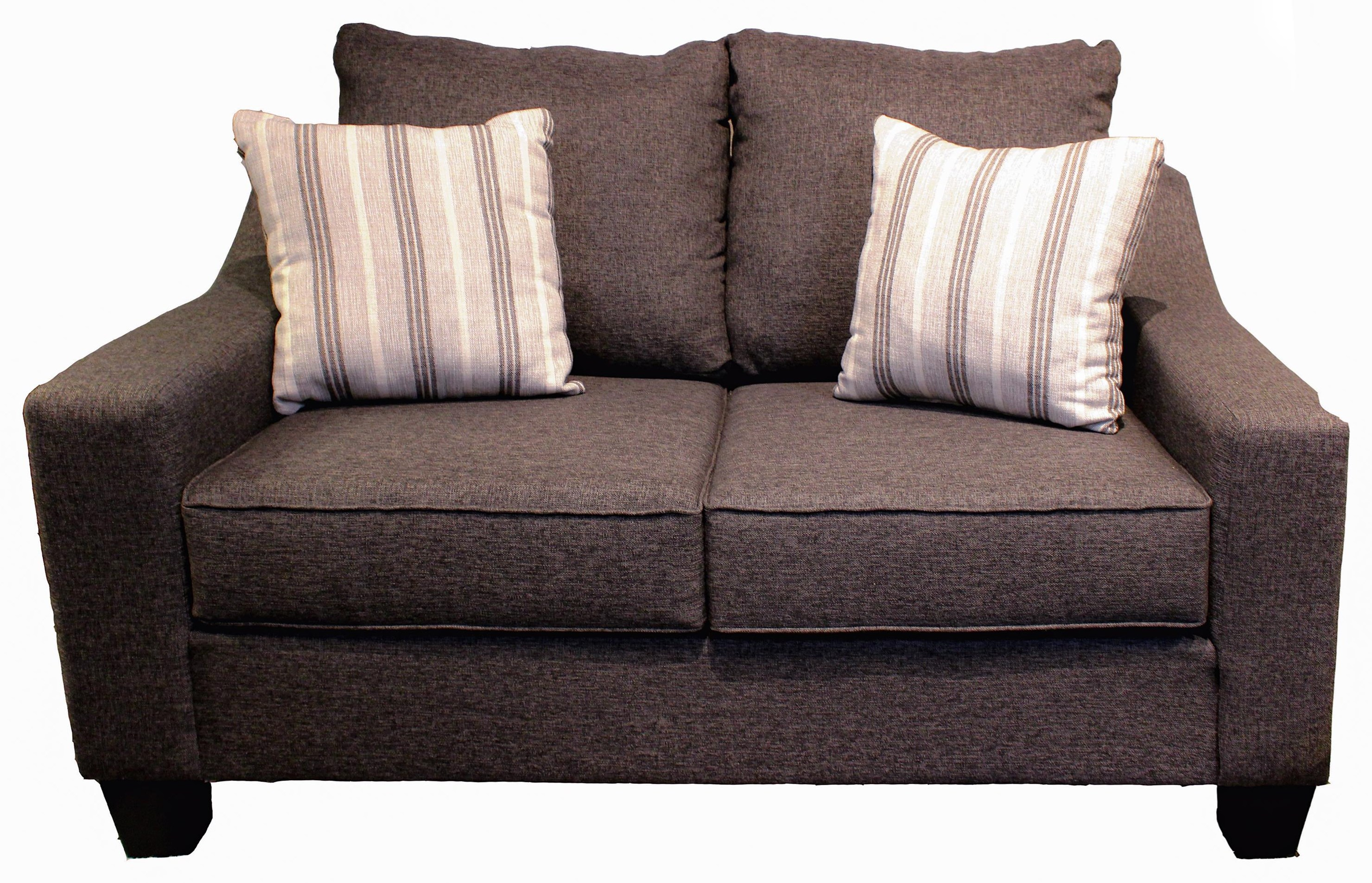 Lucy Splash Charcoal Loveseat by Michael Nicholas at Beck's Furniture