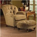 Michael Thomas 032 Chair with Tufted Back - Shown with Ottoman