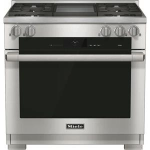 "Miele Dual Fuel Ranges - Miele HR1936 DF GD 36"" Dual Fuel Range"