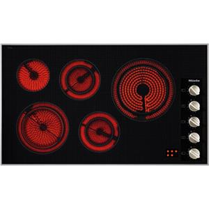"Miele Electric Cooktops 36"" 5-Burner KM5627 Classic Cooktop"