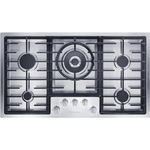 "Miele Gas Cooktops - Miele 36"" 5-Burner KM2355 G Gas Cooktop"