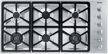 "Miele Gas Cooktops - Miele 42"" 6-Burner KM3484 G Gas Cooktop - Item Number: 26348450USA"