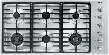 """Miele Gas Cooktops - Miele 42"""" 6-Burner KM3485 LP Gas Cooktop - Item Number: 26348551USA"""