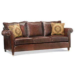 Miles Talbott 1920 Series Leather Upholstered Sofa