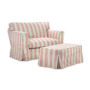 Slipcover Chair & Ottoman