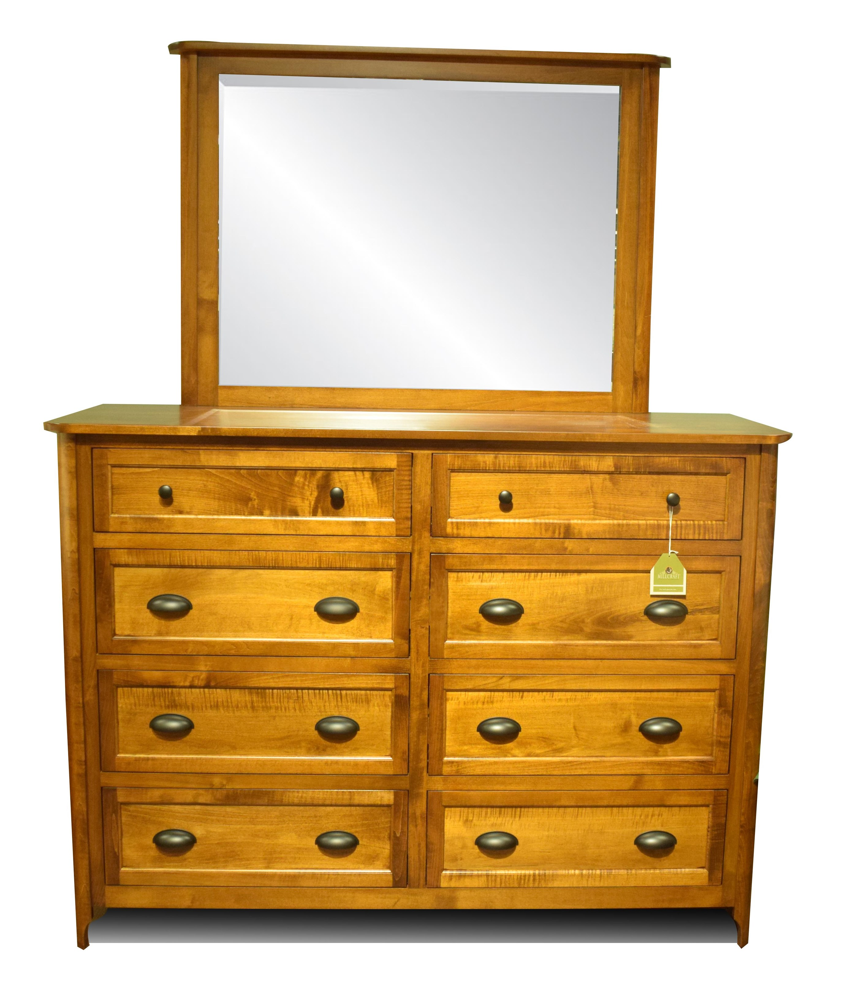 Amish Crafted in the USA Baldwin Dresser and Mirror - Item Number: B16BA-DM