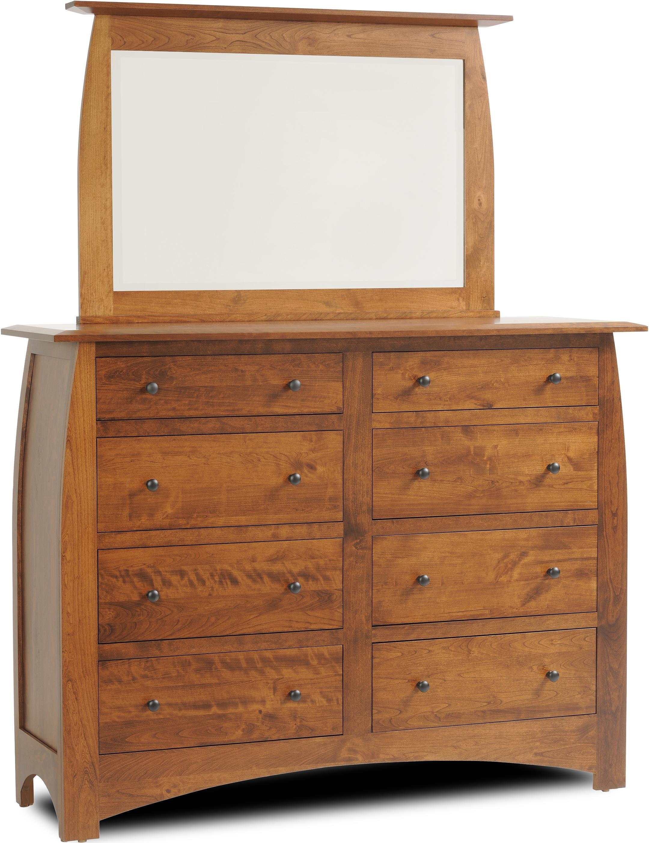 Millcraft Bordeaux Drawer Dresser W Mirror Ruby Gordon Furniture Mattresses Dresser