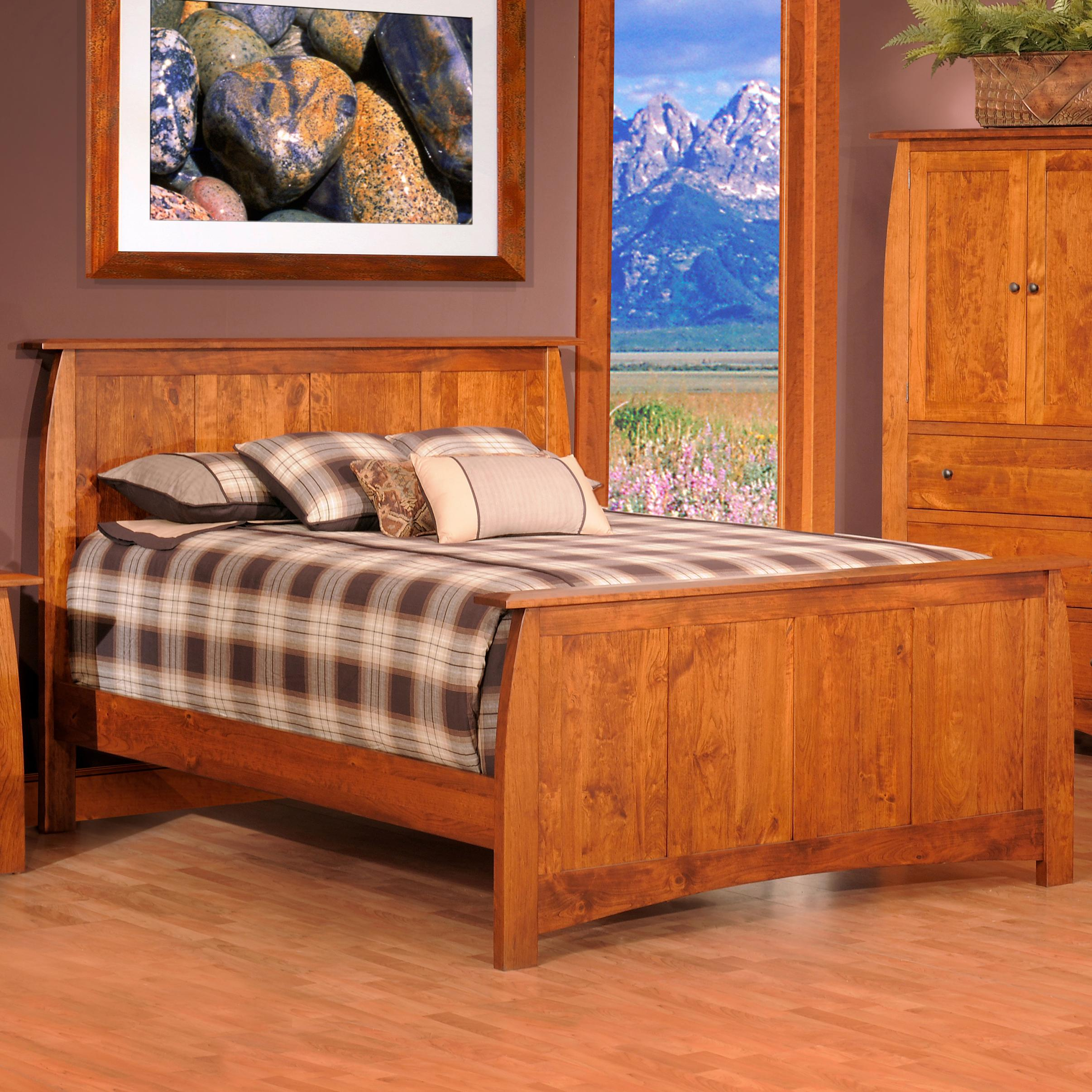 Bordeaux Queen Panel Bed by Millcraft at Saugerties Furniture Mart