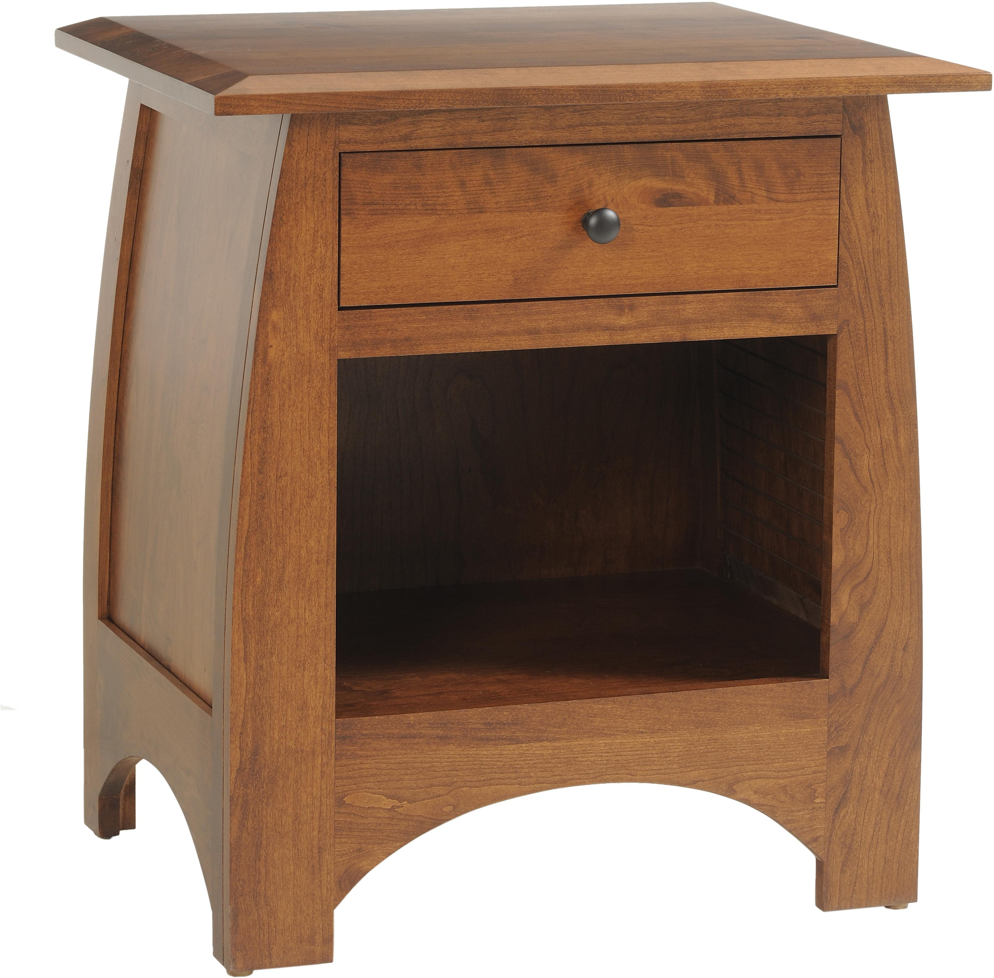 Bordeaux Nightstand by Millcraft at Saugerties Furniture Mart