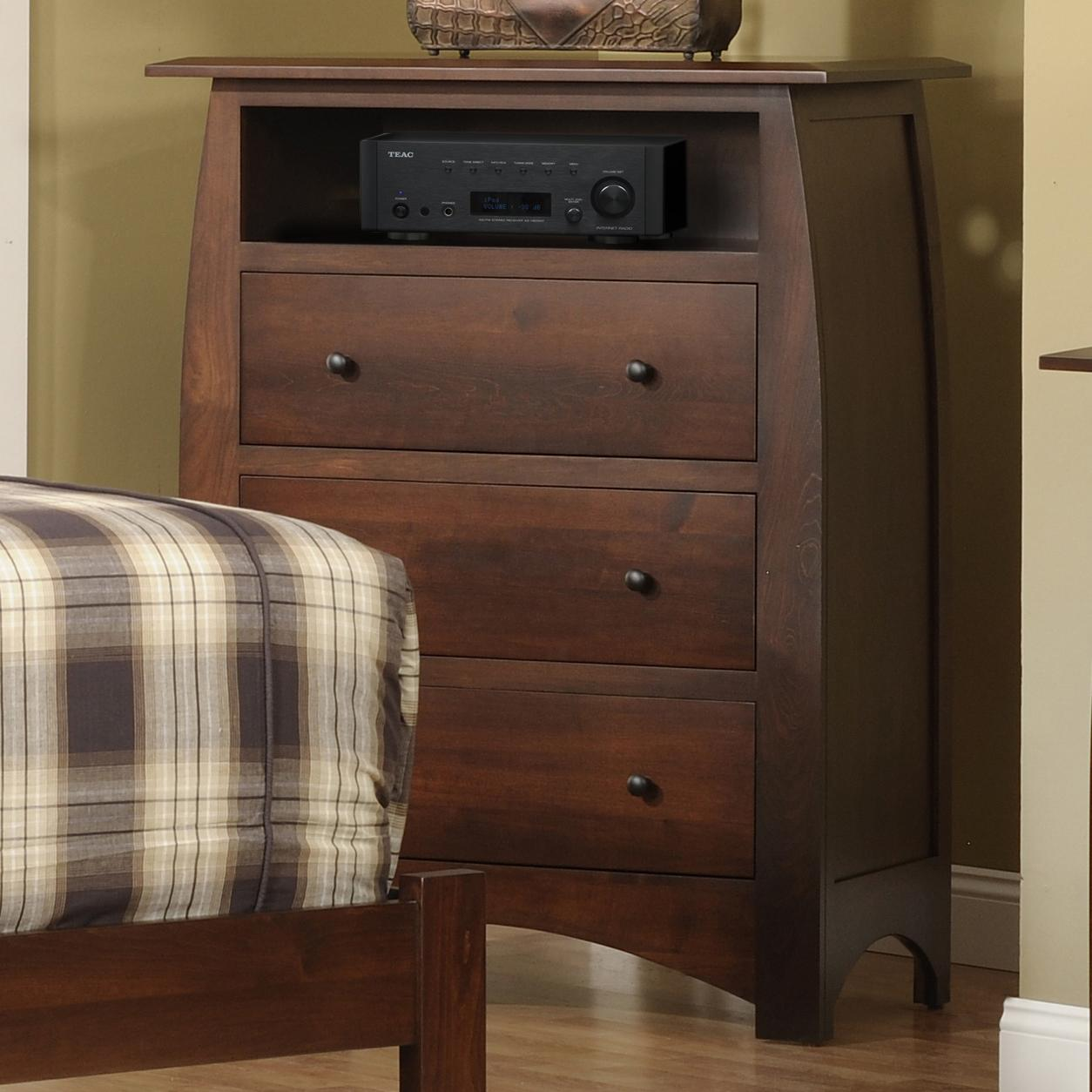 Bordeaux Chest with VCR shelf by Millcraft at Saugerties Furniture Mart