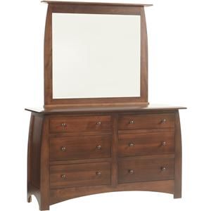 Millcraft Bordeaux Dresser and Mirror