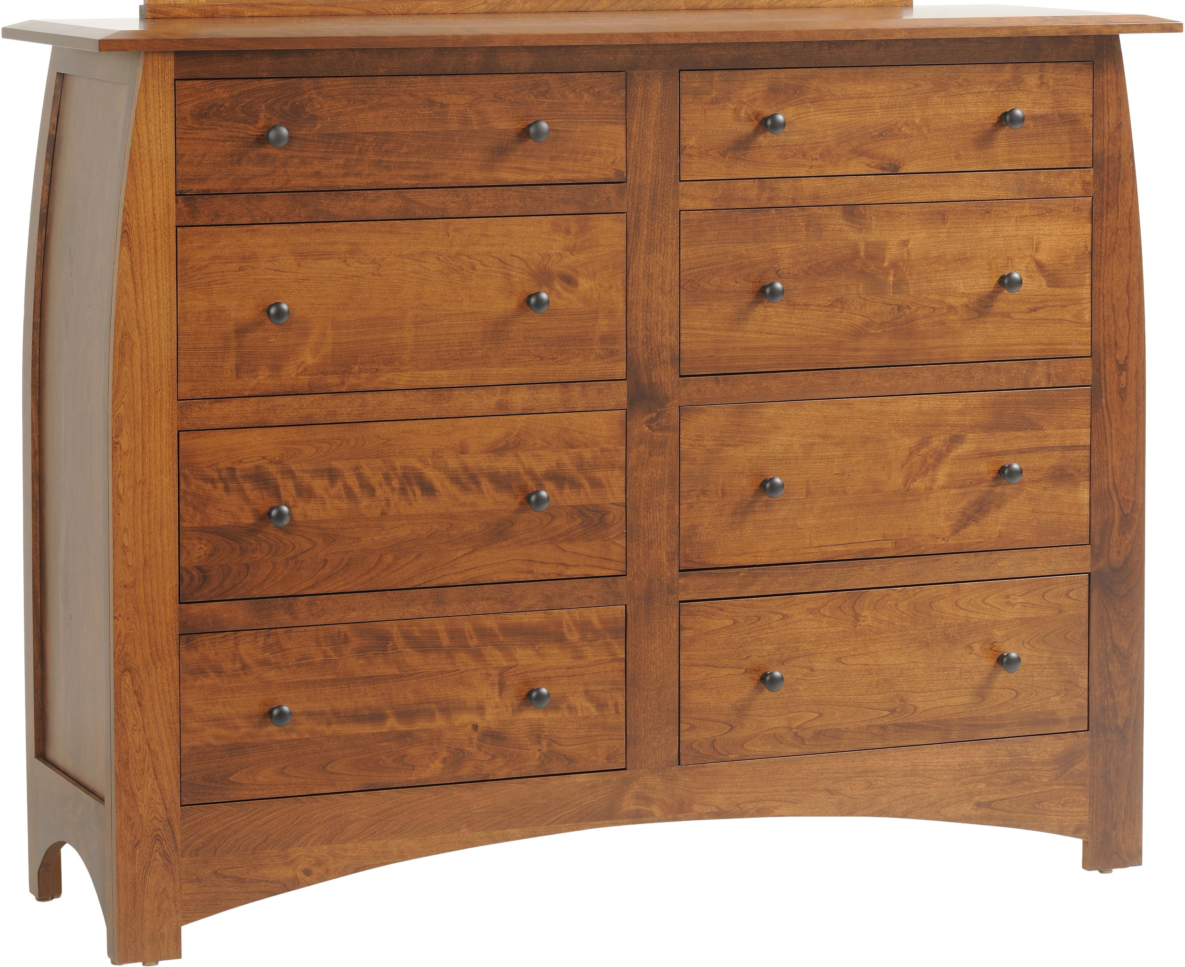 Bordeaux High Dresser by Millcraft at Saugerties Furniture Mart