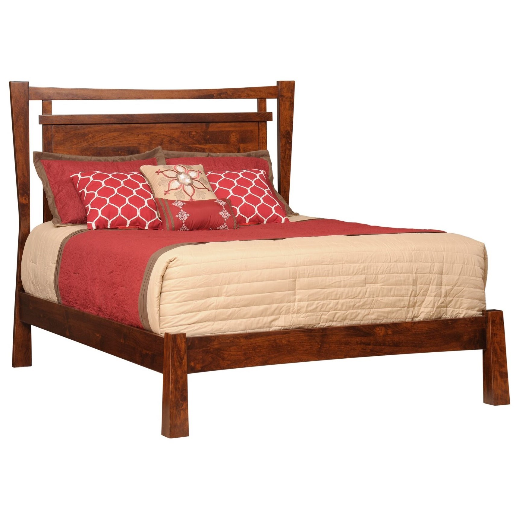 Catalina Queen Panel Bed by Millcraft at Saugerties Furniture Mart