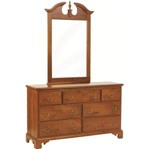 Rotmans Amish Elegant River Bend Dresser with Mirror
