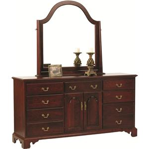 Rotmans Amish Elegant River Bend Dresser and Mirror