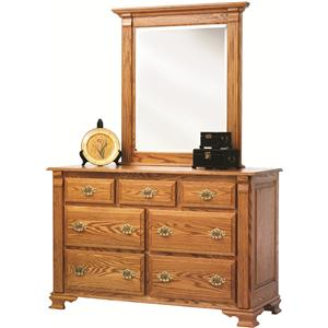 Rotmans Amish Journeys End Dresser + Mirror