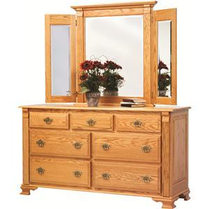 Rotmans Amish Journeys End Dresser + Mirror