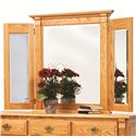 Rotmans Amish Journeys End 7 Drawer Dresser with Tri-View Beveled Edge Mirror