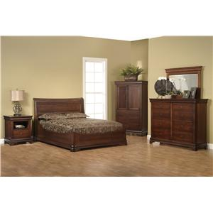 Millcraft Versallies King Euro Bedroom Group