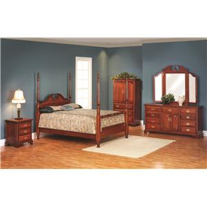 Rotmans Amish Victorias Tradition Queen Poster Bedroom Group