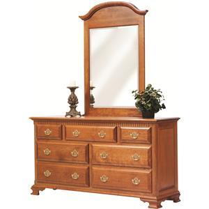 Rotmans Amish Victorias Tradition Dresser and Mirror Set