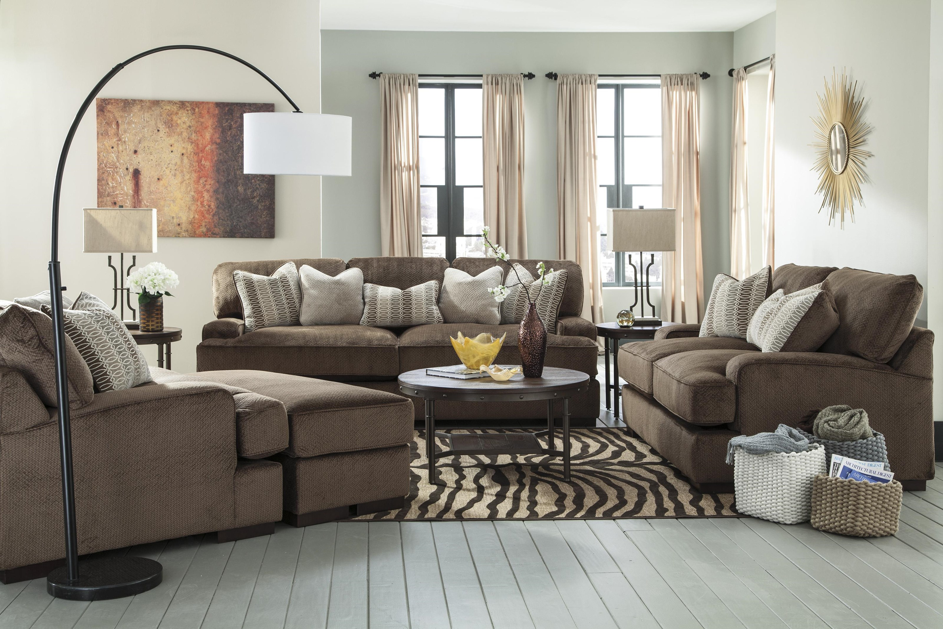 Chcoloate Living Room Set