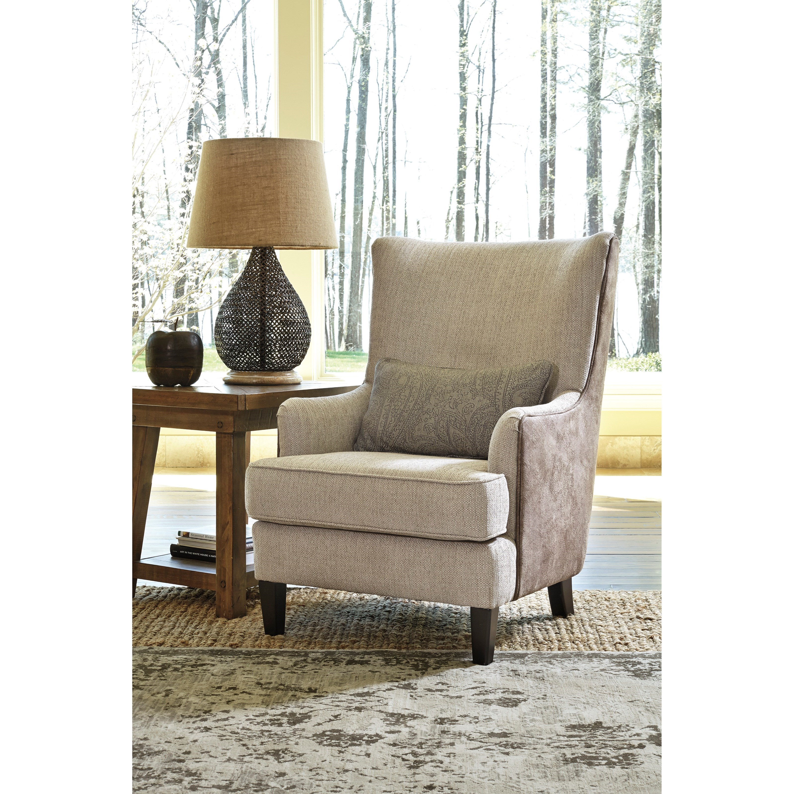 Pillows For Living Room Chairs: Millennium Baxley Modern Wing Back Accent Chair With