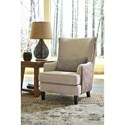 Millennium Baxley Modern Wing Back Accent Chair with Kidney Pillow