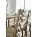 Millennium Chapstone Dining Upholstered Side Chair with Woven Faux Leather Back