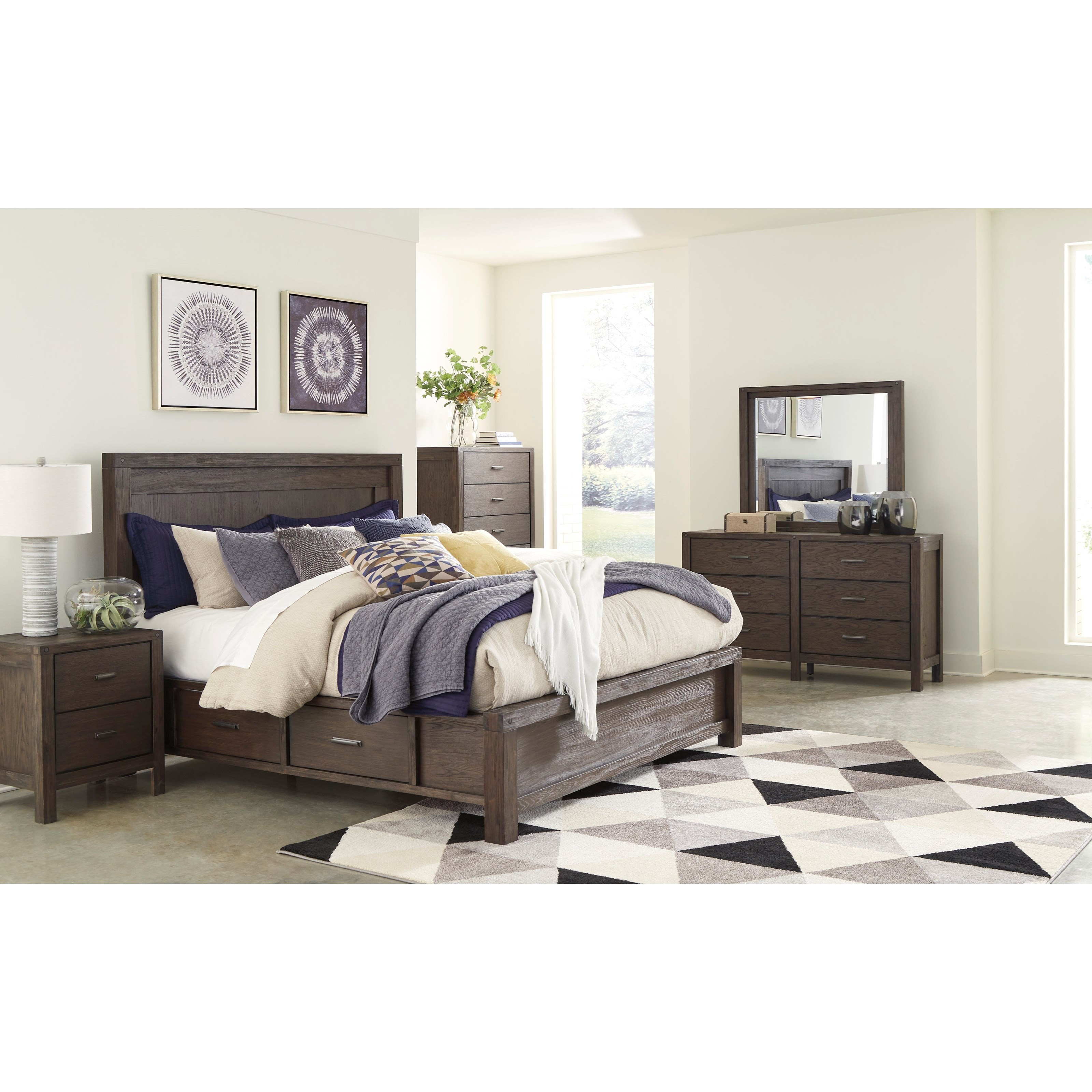 Dellbeck Queen Bedroom Group by Millennium at Value City Furniture