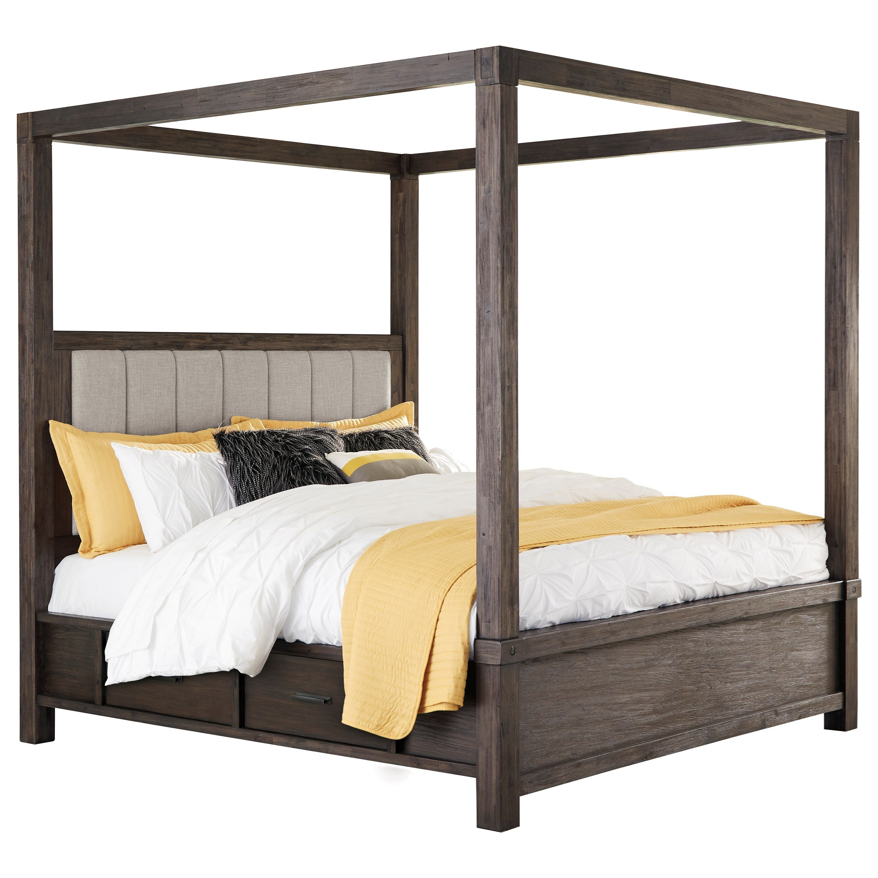 King Canopy Storage Bed