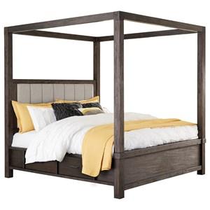 Queen Canopy Storage Bed