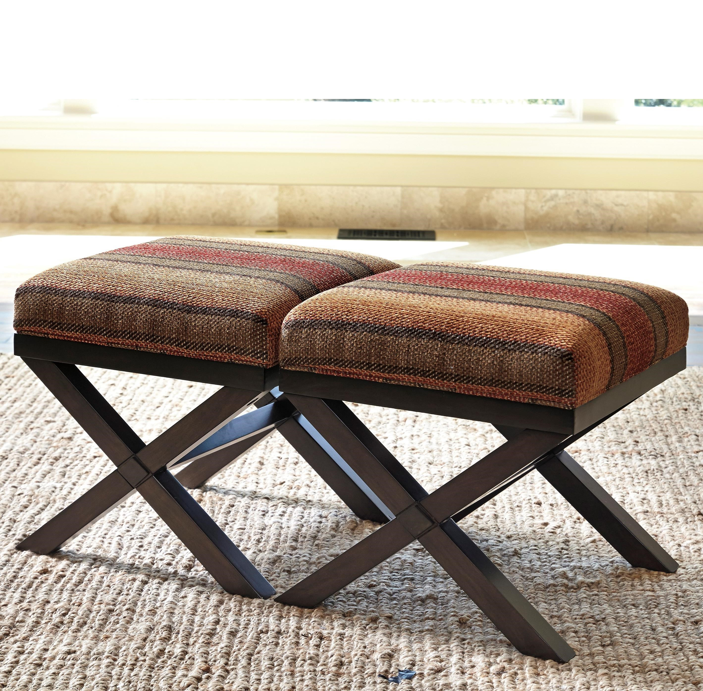 Millennium Fiera Set of 2 Accent Ottomans - Item Number: 4510113