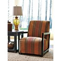Millennium Fiera Accent Chair with Geometric Exposed Arms