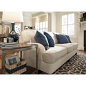 Millennium Harahan Sofa with English Arms & Turned Feet
